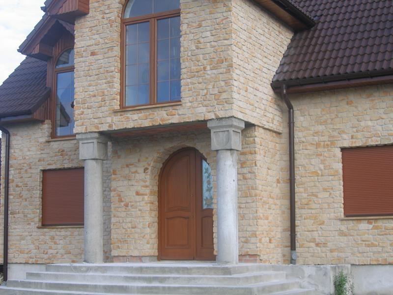 Najnowsze Kamień elewacyjny dekoracyjny piaskowiec ozdobny murowy - mur YF45